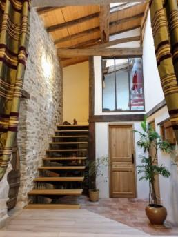 Rénovation maison pierre isolation extérieure bardage bois St Fiacre sur Maine Patio 3