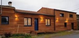 Rénovation maison pierre isolation extérieure bardage bois St Fiacre sur Maine